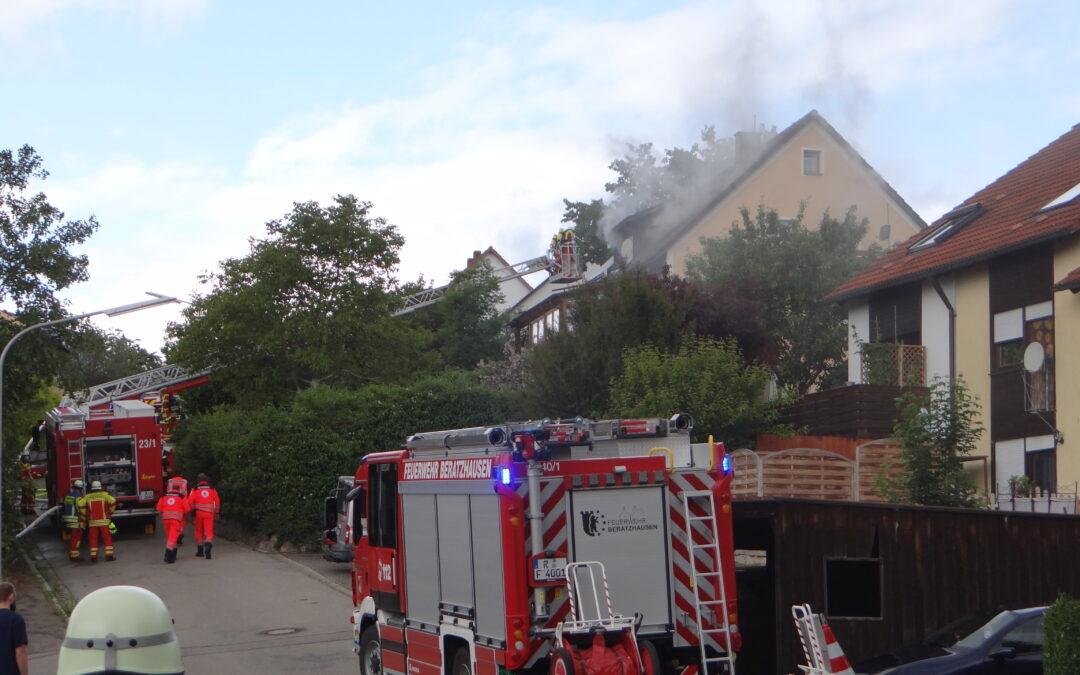 Explosion Wohnhaus in Laaber